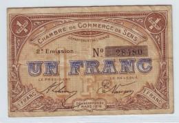 CHAMBRE DE COMMERCE SENS - UN FRANC 1916 - Chambre De Commerce