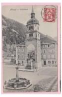 SUISSE -- URI -- ALTDORF -- MONUMENT A GUILLAUME TELL -- CP 1906 -- - UR Uri