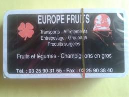 Jeu De Tarot. EUROPE FRUITS Transports, Affrétements, Entreposage, Groupage, Produits Surgélés. Jeu Neuf Sous Blister - Playing Cards (classic)