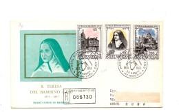 Fh90 - VATICANO 1973 , RACCOMANDATA Con Timbro D´arrivo : S. TERESA - FDC
