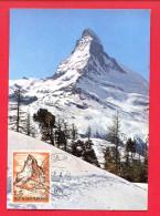 Carte Maximum - Saint Marin - Montagne - Mont Cervin - Lettres & Documents