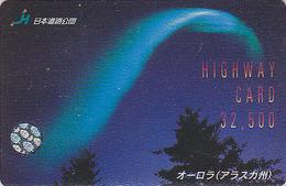 Carte Prépayée Japon - Thème Polaire - ALASKA / Aurore Boréale - Sunset Aurora Rel Card From Japan / Space 5 - Astronomy