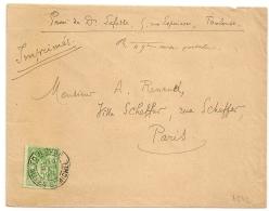 SAGE 5c Vert Jaune N°106 Sur ENVELOPPE OUVERTE, TOULOUSE ALLEES ST MICHEL Pour PARIS. - 1876-1898 Sage (Type II)