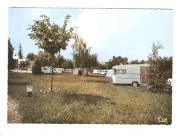 CPSM 07 TOURNON Camping Municipal Caravanes Bâtiments Peu Commune - Tournon