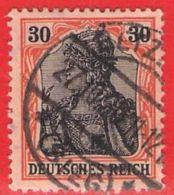 MiNr.89II.x O Deutschland Deutsches Reich - Usados