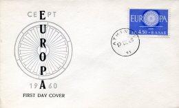 9193 Greece,  Fdc 1960 Europa 1960 - FDC