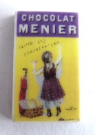 FEVE - CLAMECY 2005 AFFICHE CHOCOLAT MENIER Petite Fille Robe Violette - Otros