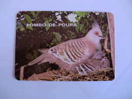 Birds Pigeon Pombo De Poupa Portugal Portuguese Pocket Calendar 1986 - Klein Formaat: 1981-90