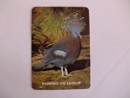 Birds Pigeon Pombo De Leque Portugal Portuguese Pocket Calendar 1986 - Klein Formaat: 1981-90