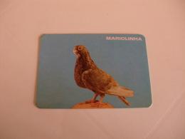 Birds Pigeon Pombo Mariolinha Portugal Portuguese Pocket Calendar 1986 - Klein Formaat: 1981-90