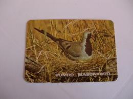 Birds Pigeon Pombo Mascarado Portugal Portuguese Pocket Calendar 1986 - Klein Formaat: 1981-90