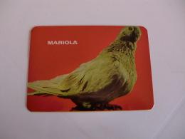 Birds Pigeon Pombo Mariola Portugal Portuguese Pocket Calendar 1986 - Klein Formaat: 1981-90