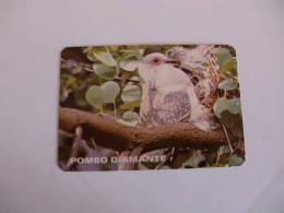 Birds Pigeon Pombo Diamante Portugal Portuguese Pocket Calendar 1986 - Klein Formaat: 1981-90