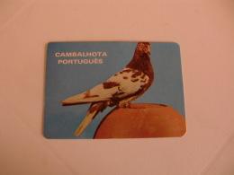 Birds Pigeon Pombo Cambalhota Português Portugal Portuguese Pocket Calendar 1986 - Klein Formaat: 1981-90