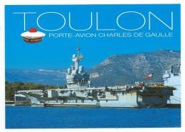 15109 - CP PORTE-AVION (SANS S) CHARLES DE GAULLE - A QUAI - TOULON - Warships