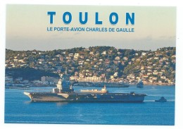 15110 - PORTE-AVION (SANS S) CHARLES DE GAULLE  -EN RADE - TOULON - Warships