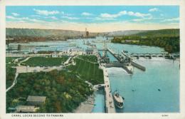 PA PANAMA DIVERS / Canal Locks Second To Panama / CARTE COULEUR - Panama