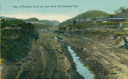 PA PANAMA DIVERS / View Of Panama Canal As Seen From The Railroad Train / CARTE COULEUR - Panama