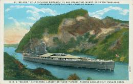 """PA PANAMA DIVERS / El """"Nelson"""" De La Escuedra Britanica, El Mas Grande Del Mundo De 33,500 Toneladas / CARTE COULEUR - Panama"""