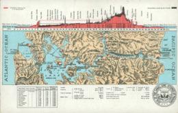"PA PANAMA DIVERS / Carte Géographique, ""Excavation Made By The U.S Government"" / CARTE COULEUR - Panama"