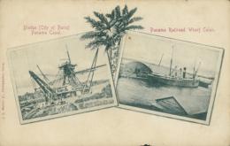 PA PANAMA DIVERS / Driedge, Panama Canal, Panama Railroad Wharf Colon / - Panama