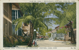 PA CRISTOBAL / Panama Canal Club-House And Restaurant / CARTE COULEUR - Panama