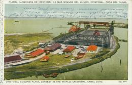 PA CRISTOBAL / Planta Carbonera De Cristobal, La Màs Grande Del Mundo / CARTE COULEUR - Panama