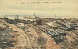 PA CRISTOBAL / Docks Under Construction At Cristobal / CARTE COULEUR - Panama