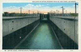 PA GATUN / Gatun Locks Looking South Panama Canal / CARTE COULEUR - Panama
