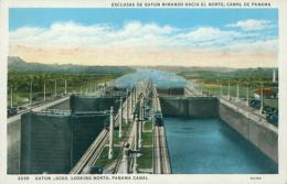 PA GATUN / Gatun Locks Looking North, Panama Canal / CARTE COULEUR - Panama