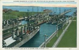 PA GATUN / Algunos Buques De La Flota Del Pacifico En Las Esclusas De Gatun / CARTE COULEUR - Panama