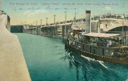 "PA GATUN / First Though The Locks, Tugboat ""Gatun"" Entering The Gatun Lower Locks / CARTE COULEUR - Panama"