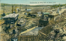 PA GATUN / Construction Of Wing Wall Of Gatun Lock / CARTE COULEUR - Panama