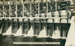 PA GATUN / Operating Emergency Dam, Gatun Locks, Panama Canal / CARTE GLACEE - Panama