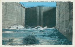 PA MIRAFLORES / LLenando La Esclusa Superior De Miraflores, Canal De Panama / CARTE COULEUR - Panama
