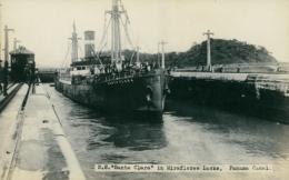 "PA MIRAFLORES / U.S ""Santa Clara"" In Miraflores Locks / CARTE GLACEE - Panama"