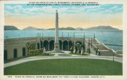 PA PANAMA / Plaza De Francia Con El Monumento Dedicado A La Memoria / CARTE COULEUR - Panama