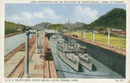 PA PEDRO MIGUEL / Caza Submarinos En Las Exclusas De Pedro Miguel / CARTE COULEUR - Panama