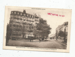 Cp , Hôtels & Restaurants , MODERN'HOTEL , 21 Avenue Président Faure Et Postes Et Télégraphe , 42 , Saint Etienne - Hotels & Restaurants