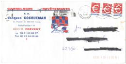 FRANCIA - France - 1999 - 3 X 0,46€ (3,00F) - Viaggiata Da ???? Per Beauvoir-Wavans, France - Storia Postale
