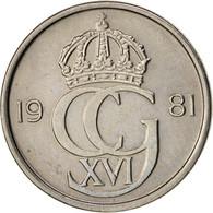 Suède, Carl XVI Gustaf, 10 Öre, 1981, SUP, Copper-nickel, KM:850 - Suède