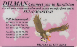 KURDISTAN(NORTH IRAQ) - Eagle, Dilman Prepaid Card 5 Pounds, Used