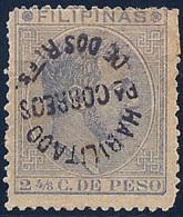 ESPAÑA/FILIPINAS 1881/88 - Edifil #66V Tipo II - Sobrecarga Invertida !Muy Raro! - Filippijnen