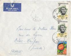 LETTRE DE ILE DE TAHITI ..POUR BORDEAUX ...1963...TIMBRES N°4X2   N°15...  BE. - Tahiti