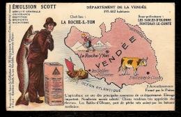 CPA ANCIENNE GEOGRAPHIQUE (85)- DÉPARTEMENT DE LA VENDÉE- PUB EMULSION SCOTT- - Unclassified