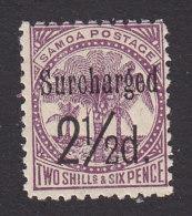 Samoa, Scott #27, Mint Hinged, Palm Surcharged, Issued 1898 - Samoa
