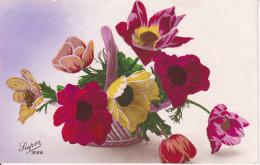 AK Korb Mit Blumen - Ca. 1920/30 (23025) - Blumen