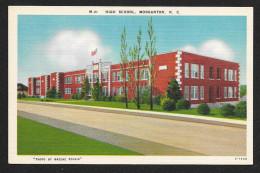 High School Street View Morganton North Carolina Unused C1930s STK#93789 - Schools