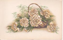 AK Korb Mit Weißen Blumen - Ca. 1920/30 (23027) - Blumen