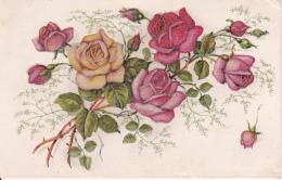 AK Rosen - Materialkarte (Blüten Sind Plastisch) - Ca. 1920/30 (23028) - Blumen